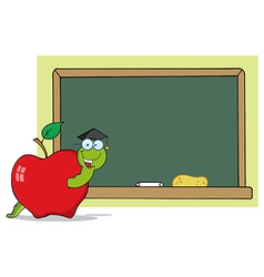Worm teacher cartoon vector