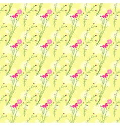 Springtime colorful cosmos flower seamless pattern vector