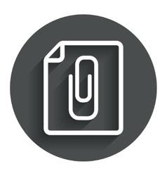 File annex icon paper clip symbol vector