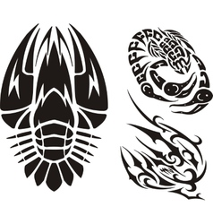 Zodiac signs - cancer vinyl-ready set vector