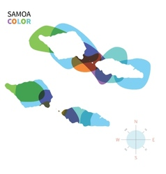 Abstract color map of samoa vector