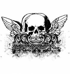Grunge skull illustration vector