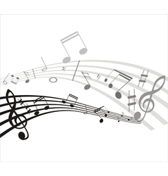 Music note background vector
