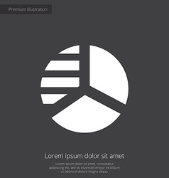 Circle diagram premium icon white on dark backgrou vector