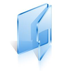 Open folder vector