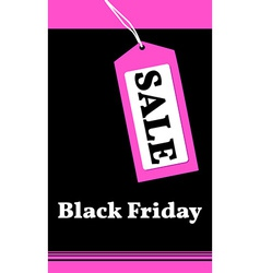 Price tag with sale on black friday vector