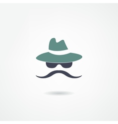 Moustache icon vector