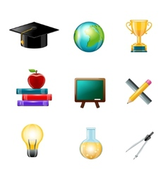 Education icon realistic vector
