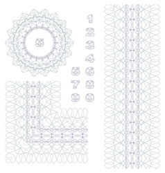 Rosette border and numbers vector