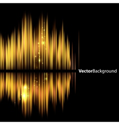 Abstract background-shiny sound waveform vector