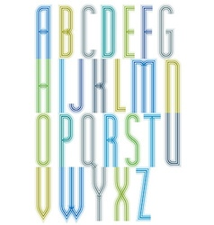 Colorful geometric decorative splicing font vector