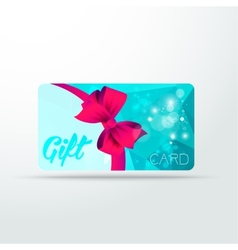 Gift card colour triangle with shine and ribbon vector