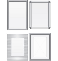 Set of metal frames vector