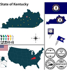 Map of kentucky vector