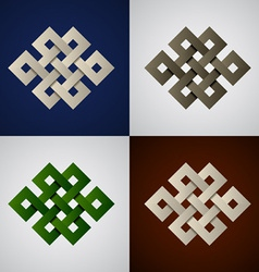 Paper endless celtic knots vector