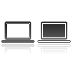 Laptops technology computer icons vector