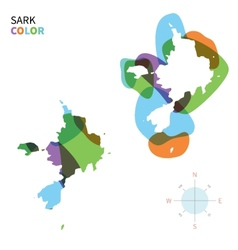Abstract color map of sark vector