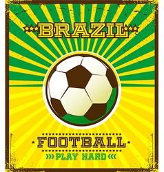 Soccer poster design vector
