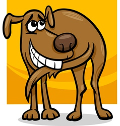 Dog chasing tail cartoon vector