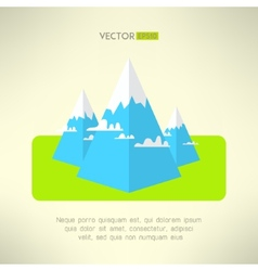 Mountains scene in a modern geometrical design vector