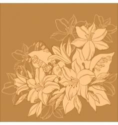Flower background monochrome vector