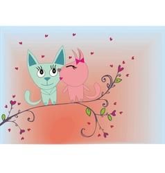 Cat lovers vector