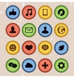 Set of social media badges vector
