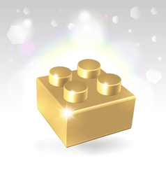 Golden construstion block award vector