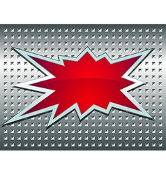 Bang sign on the metal grid vector