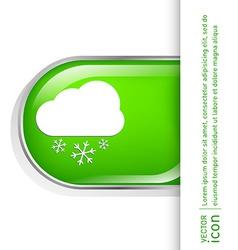 Weather icon cloud snow vector