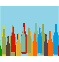 Bottle on background vector