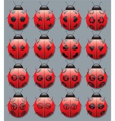 Ladybug symbols vector