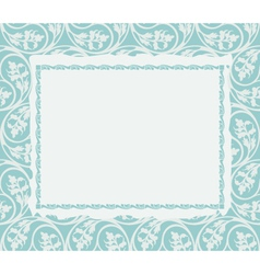 Frame on a ornamental background vector