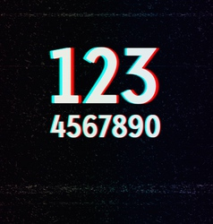 Digits with tv stereo effect vector