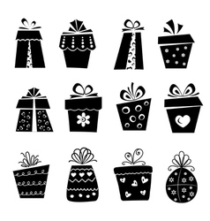 Set of gift box icons vector