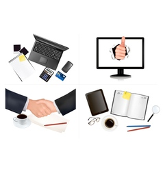 Business and office backgrounds vector