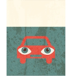 Retro grunge poster car vector