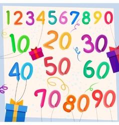 Anniversary balloons background vector