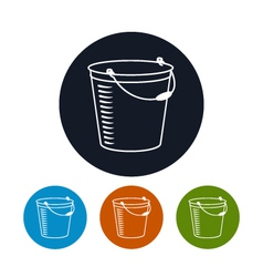 Icon bucket vector