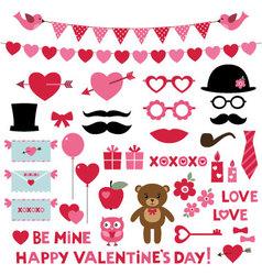 Valentines day set vector