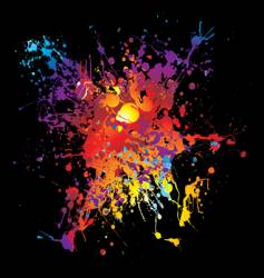 Grunge rainbow splat vector