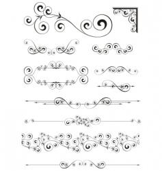 Calligraphic ornaments vector