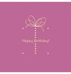 Birthday card vector