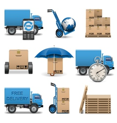 Delivery icons set 4 vector