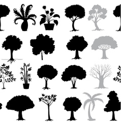 Various trees vector