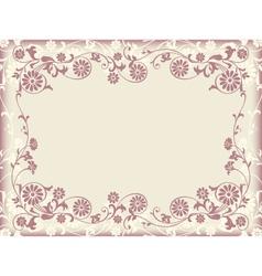 Frame floral decorative ornament vector