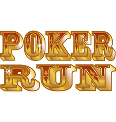 Poker run vector