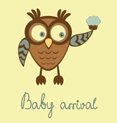 Baby arrival owl vector