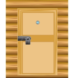 Wall with door on lock vector