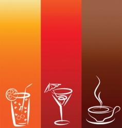 Drinks background vector
